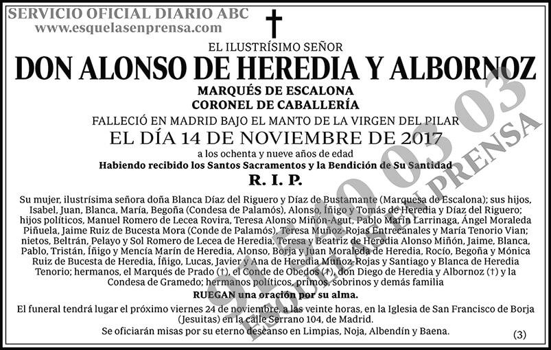 Alonso de Heredia y Albornoz